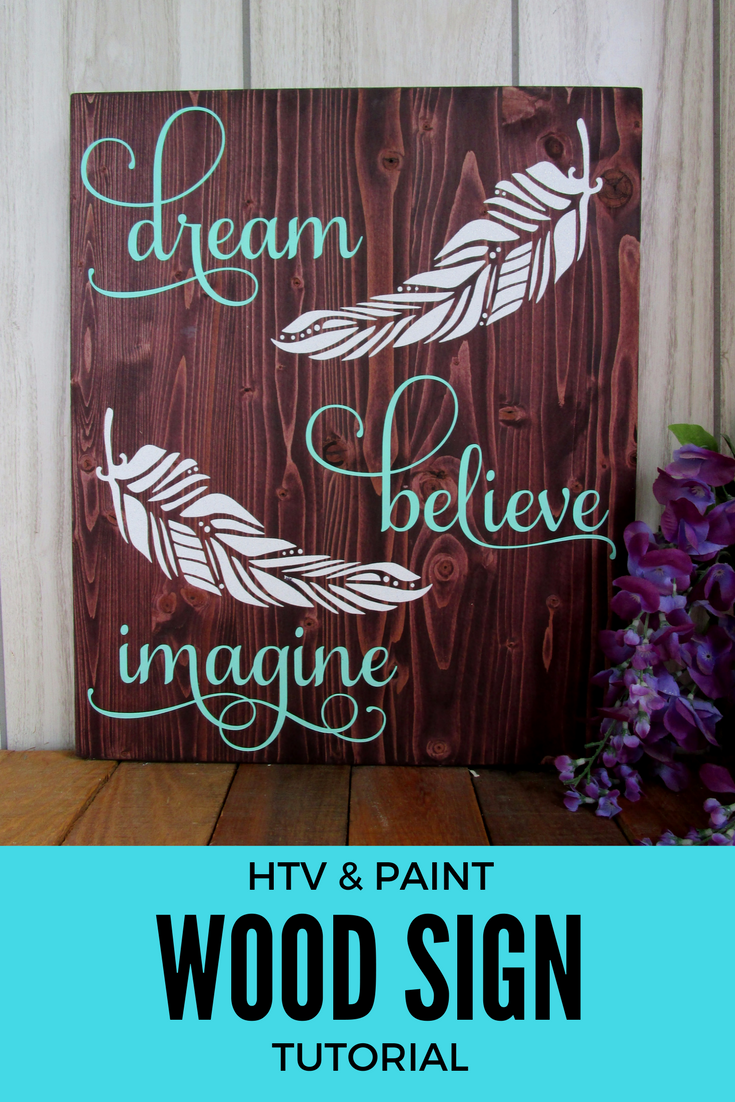 How To Create A Painted Wood Sign With Glitter Heat