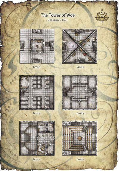 Dungeon Maps, Building