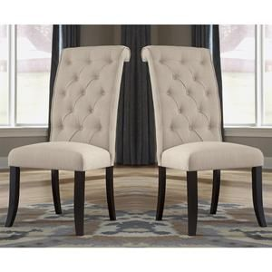 Tripton Upholstered Side Chair In Linen