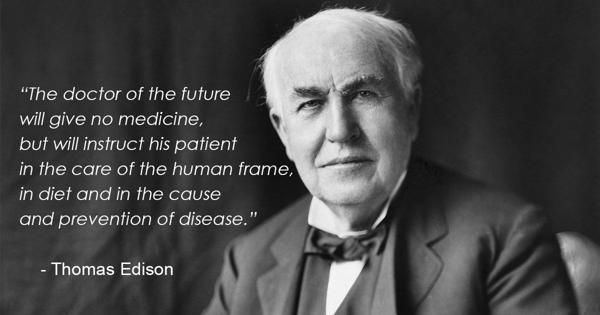 Quote Of The Day The Doctor Of Future Will Give No Medicine But