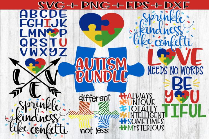 Autism Bundle 8 Designs Autism Awareness Svg Png Eps 239580 Svgs Design Bundles Autism Awareness Awareness Alphabet Illustration