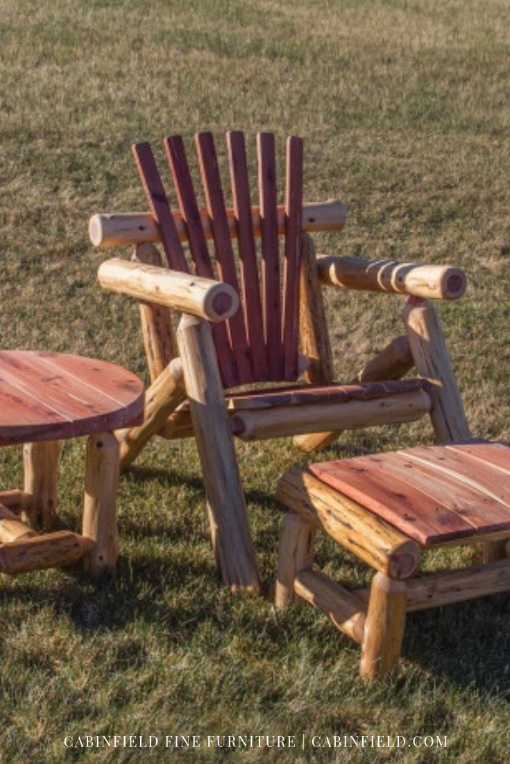 Furnish Your Outdoor Patio Oasis With Charming Red Cedar Log Furniture A Natural Resistance To All Kinds Of Weather Conditions Logs