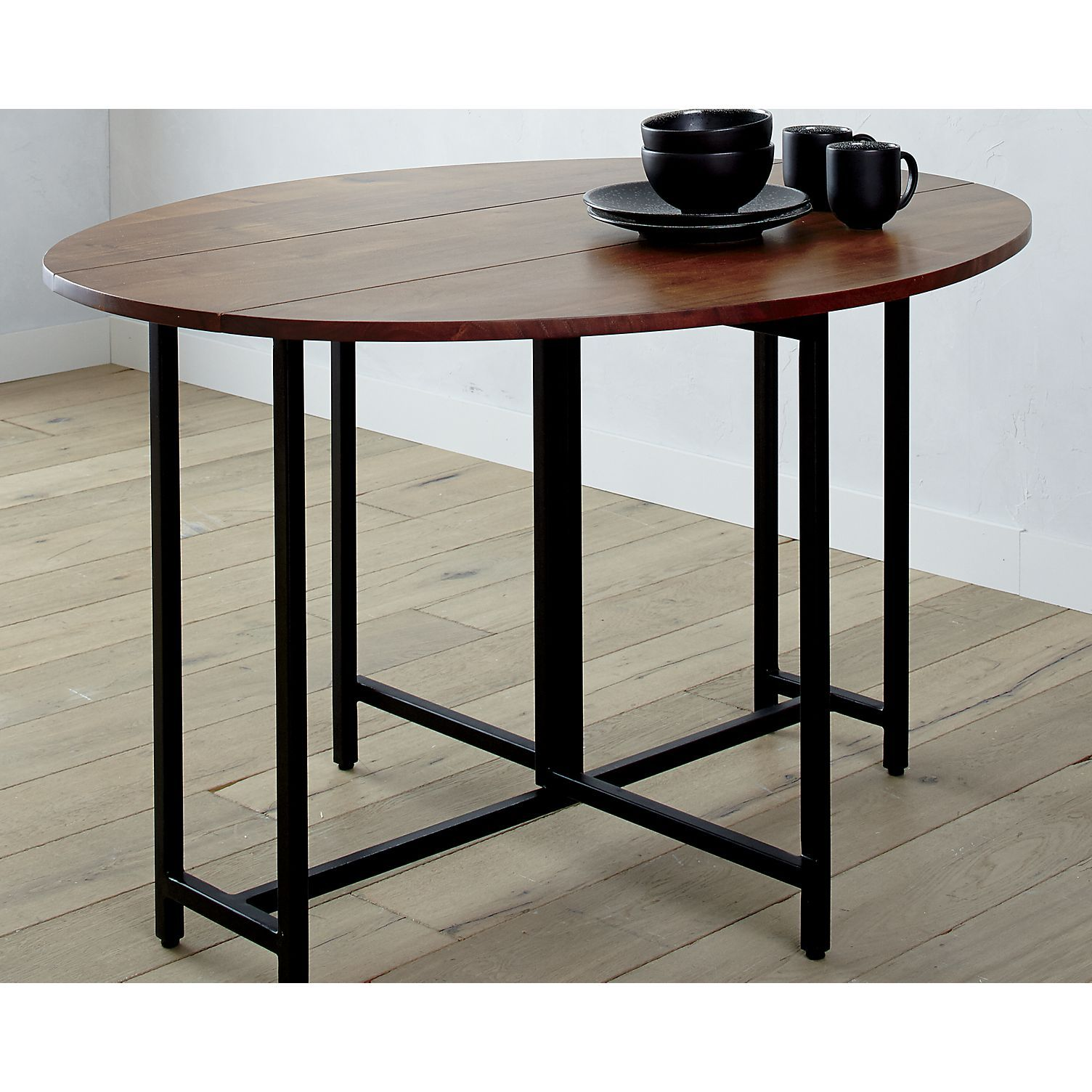 Origami Drop Leaf Oval Dining Table - Crate And Barrel