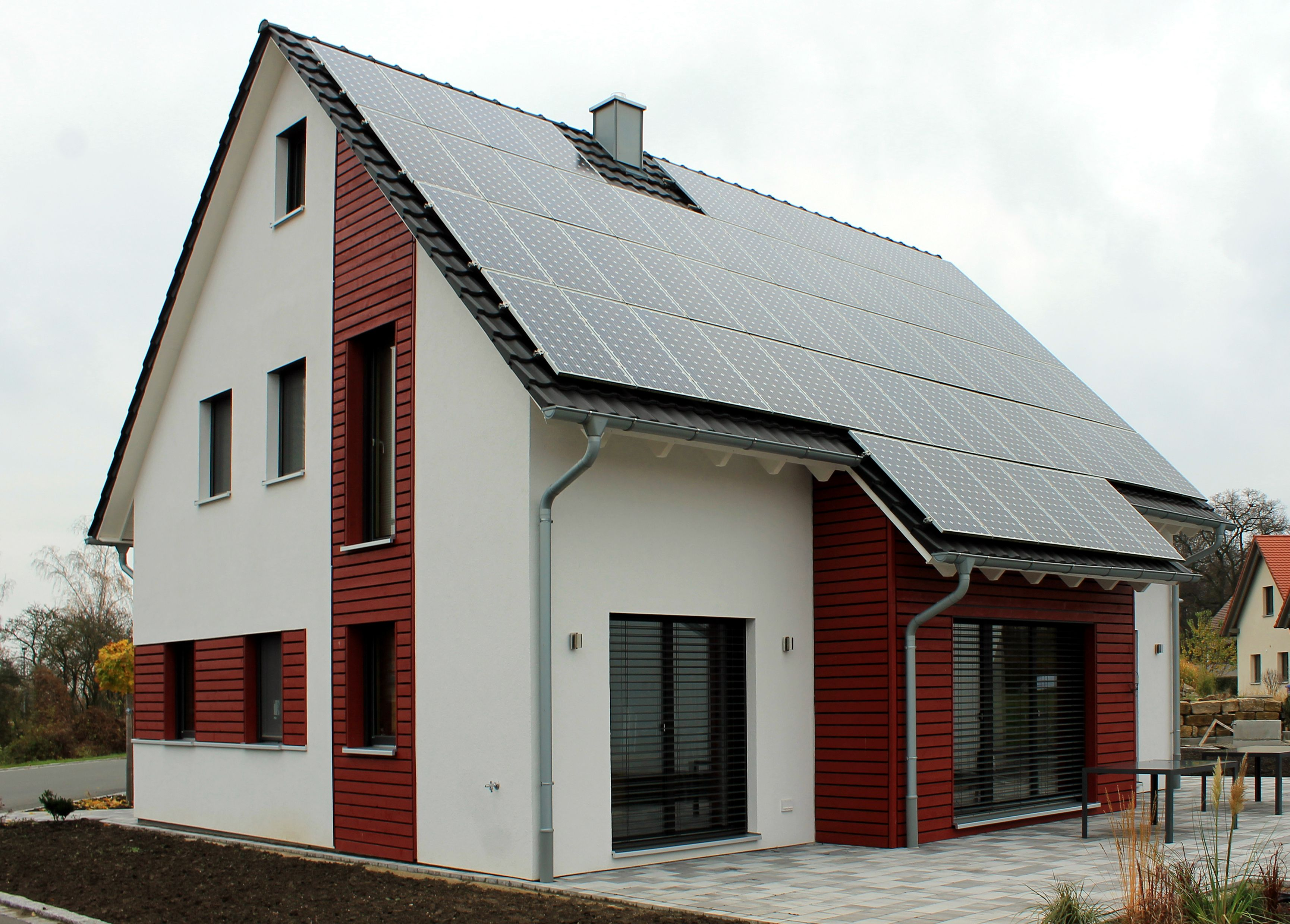 Cool Hausanbau Modern Decoration Of Holzfassade Satteldach Terrasse