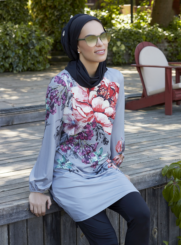 Mayovera Dev Cicekli Tasarim Mayo Muslim Swimwear Women S Plus Size Swimwear Plus Size Swimsuits