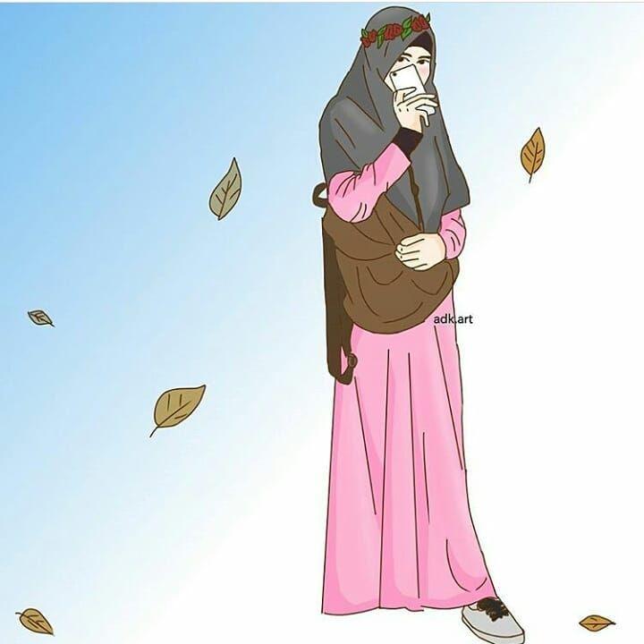 Gambar Kartun Hijab Yang Cantik
