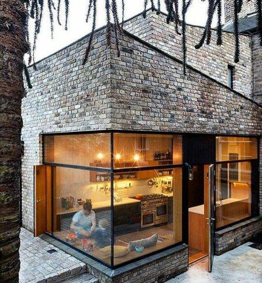 The Architect, Architecture Design, Decorating Ideas, Design Ideas, Garden,  House, Ps, Brick, Kitchen Living