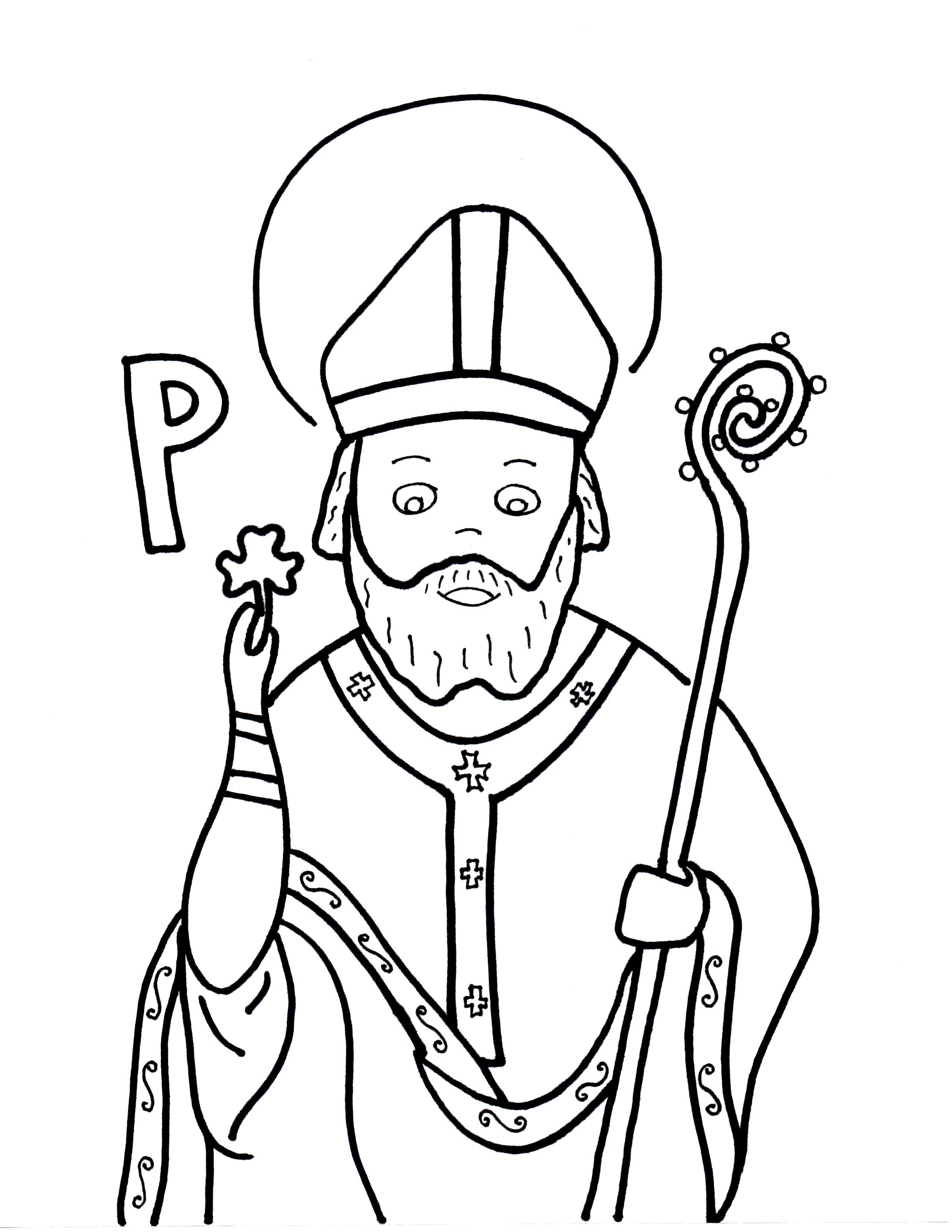 P Is For St Patrick Sunday School Coloring Pages Coloring Pages School Coloring Pages
