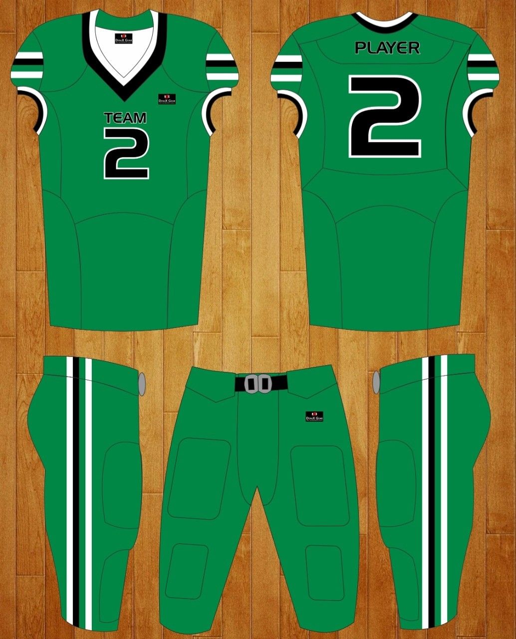 Custom Made Football Uniforms Competative Pricing Fast Delivery