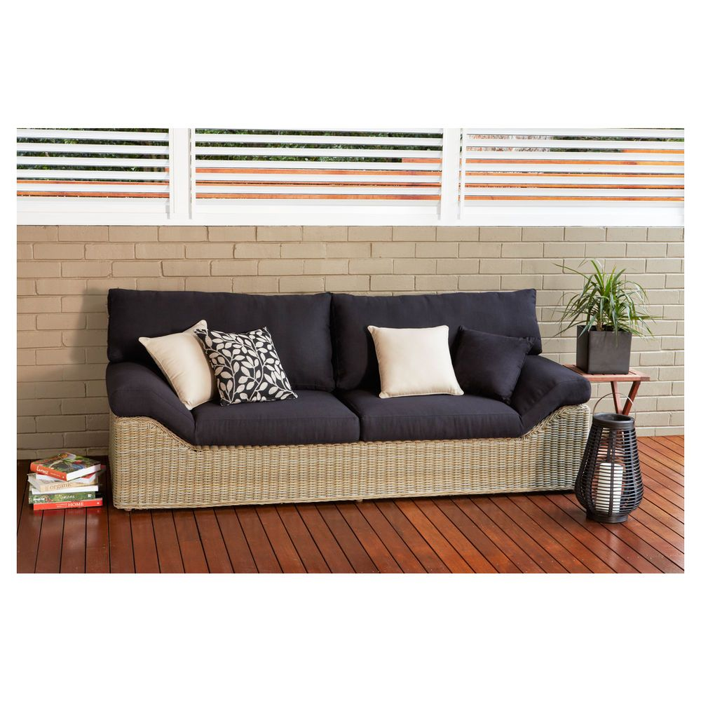 outdoor Lounge Bed - Linen Black - Masters Home Improvement ...