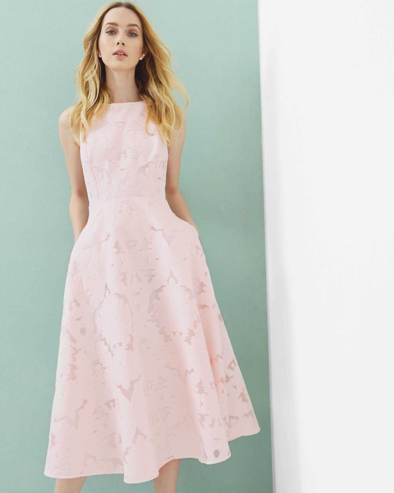 £245 Ted Baker Tie the knot Roshi pink wedding party dress
