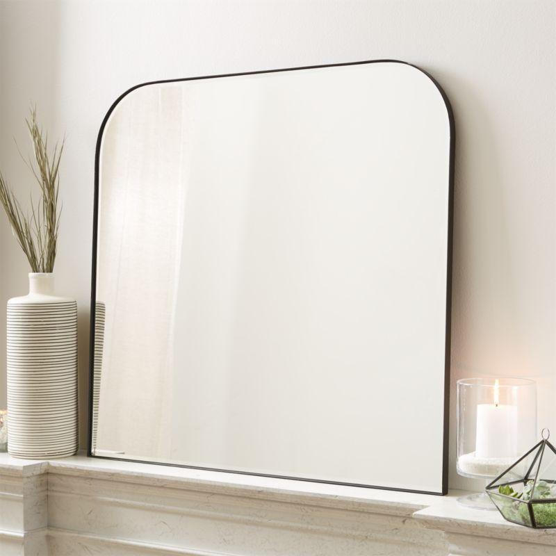 Edge Gunmetal Arch Wall Mirror Reviews Crate And Barrel Minimalist Mirrors Mirror Wall Rectangle Mirror