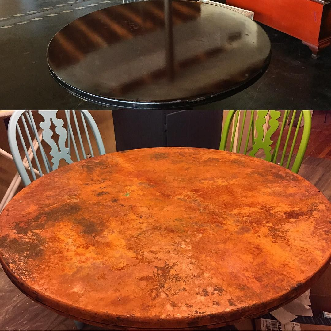 Gorgeous Tabletop With Our Modern Masters Rust Patina