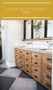 Fixer Upper Season 4 Episode 16  The Little Shack on the Prairie  Chip and Joanna Gaines  Waco Tx  Master Bathroom farmhouse bathroom joanna gaines Episode 16  The Little...