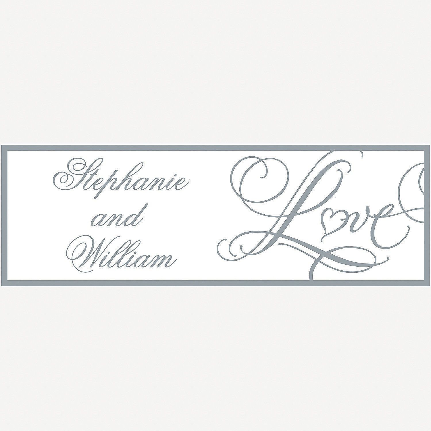 Personalized Love Wedding Banner Small Orientaltrading Com