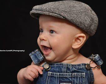 e6ccf10a Herringbone baby hat, winter boy flat cap, boy winter hat, baby newsboy hat,  gift for boy, baby boy gift - made to order