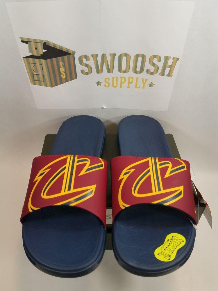 5e52fc7dd9d360 Nike Benassi Solarsoft Cleveland Cavaliers Sandals sz 14 Slide Lebron  917551-601  Nike  Slides