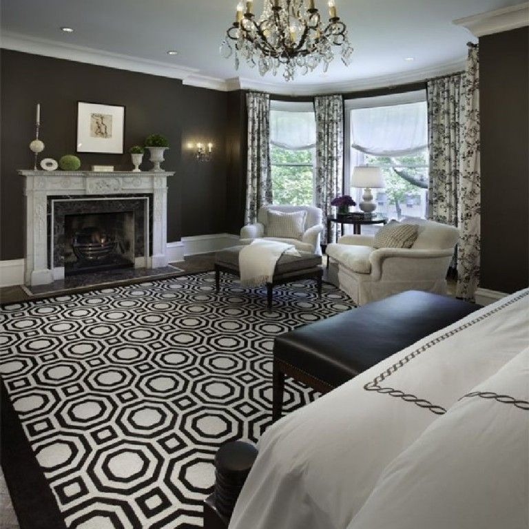 Beautiful Extra Large Living Room Rug In Black And White Colors Traditional Bedroom Design Traditional Bedroom Home