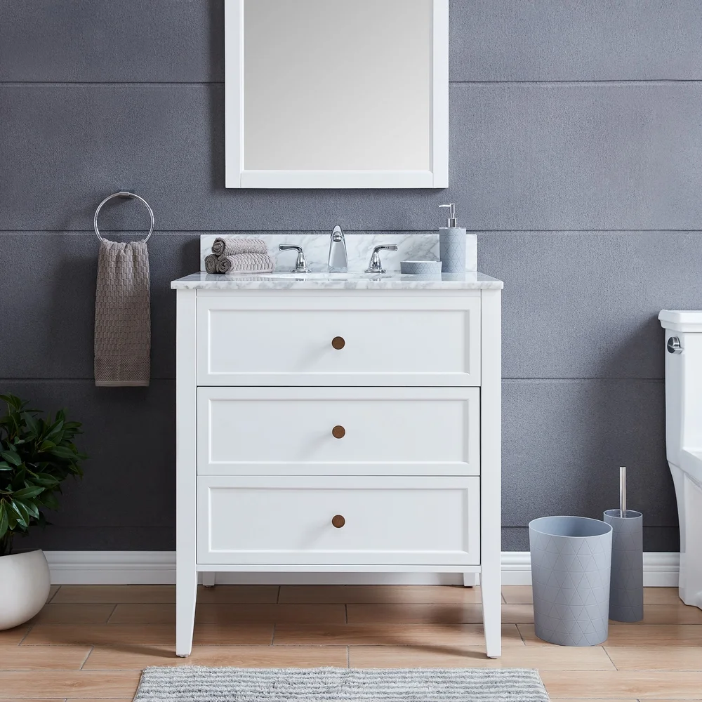 farmhouse bathroom with white vanity Google Search in