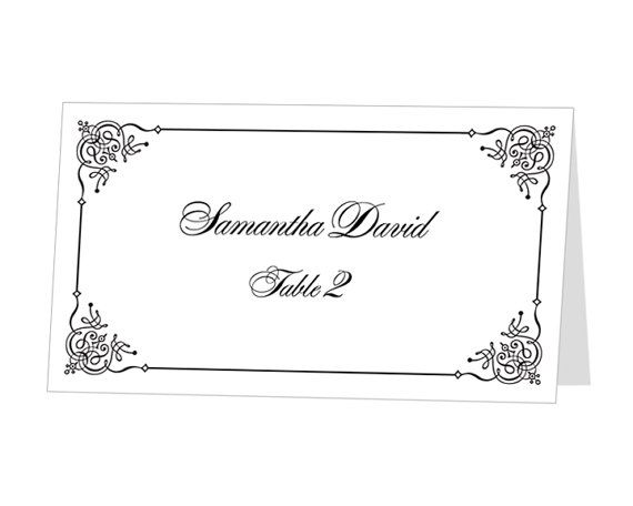 Instant Download Print At Home Place Cards Template By 43lucy 9 95 Instant Download Prints Card Templates Printable Pop Up Card Templates