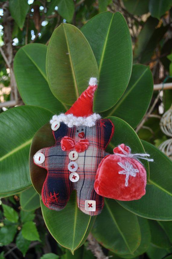 adorno navidad, adorno arbol navidad, adorno navidad tela, osito - objetos navideos