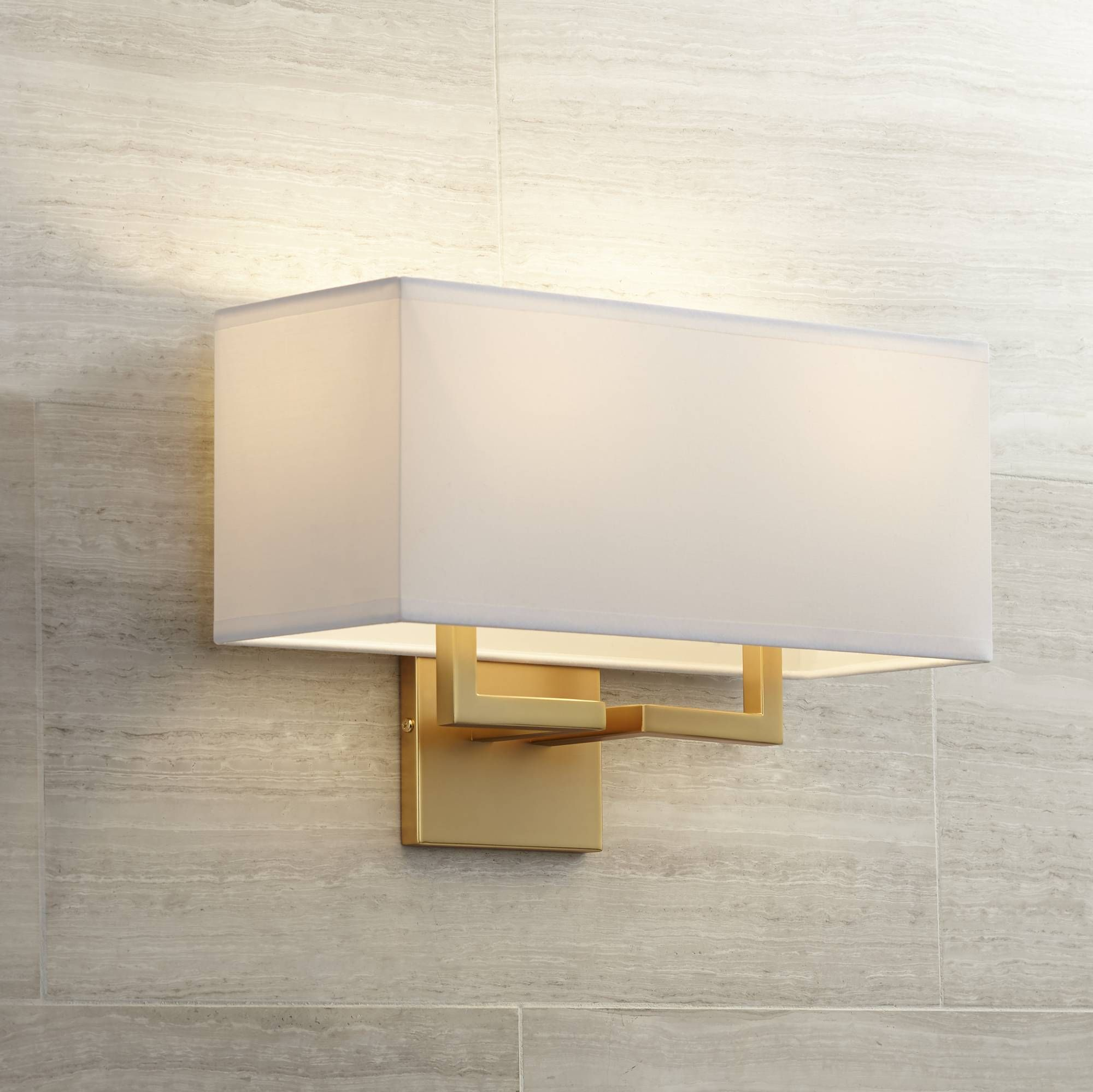 George kovacs rectangle 11 high gold wall sconce w1297 lamps