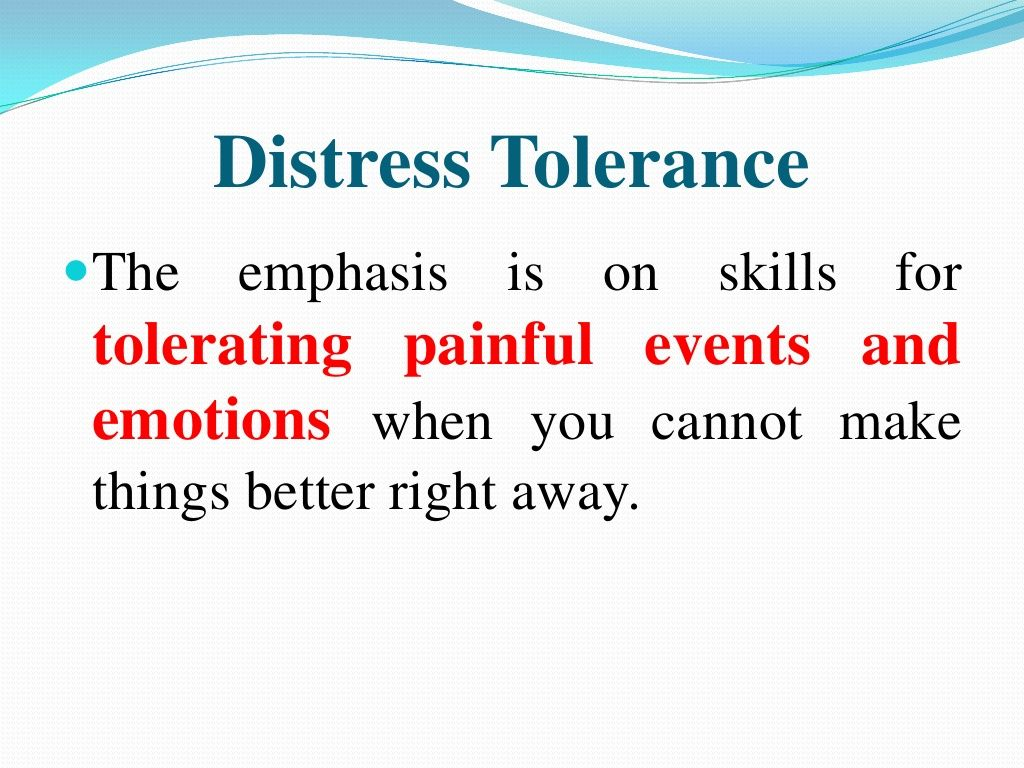 Dbt Distresstolerance Tolerating Painful Events And