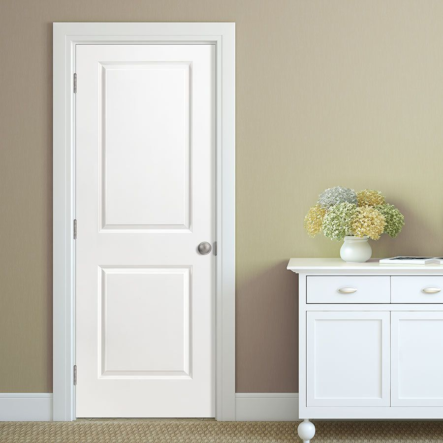 Shop Masonite Hollow Core 2 Panel Square Slab Interior Door (Common: 28 In  X 80 In; Actual: 28 In X 80 In) At Lowes.com