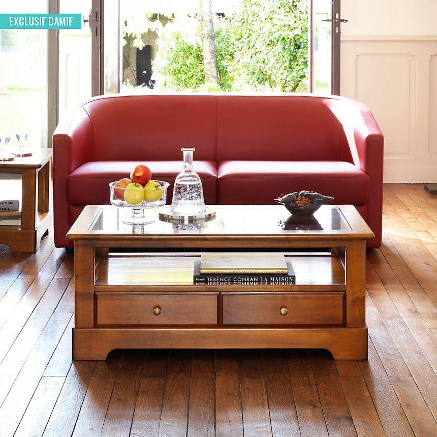 Table Basse Symphonie Plateau Verre Table Basse Camif Table Basse Plateau En Verre Mobilier De Salon