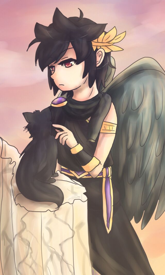 Dark Pit and a kitty