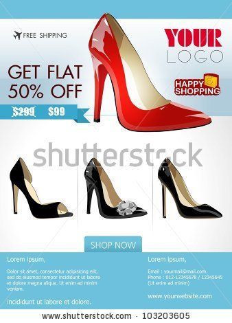 Stock-Vector-Professional-Product-Flyer-Or-Banner-Design-Of-Ladies