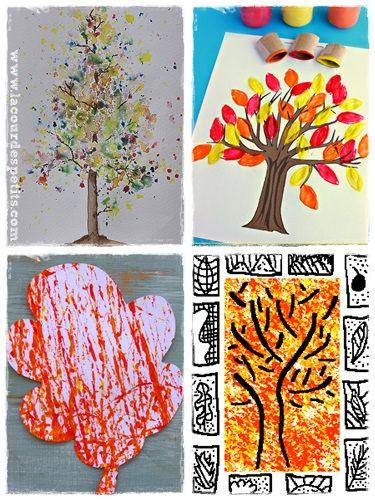 26 peintures et dessins d 39 automne cour automne et activit manuelle automne. Black Bedroom Furniture Sets. Home Design Ideas