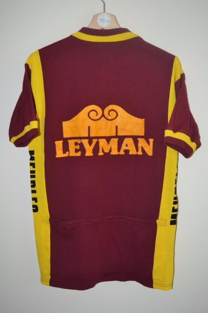9f990b702 VINTAGE WTC ALZOO WOLUWE LEYMAN MEUBLES ACRYLIC CYCLING JERSEY MENS SIZE 5