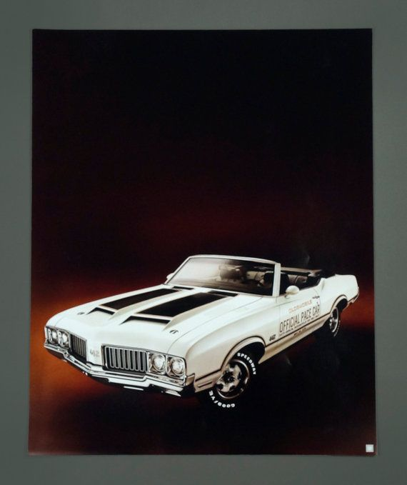 1970 Oldsmobile Poster Official Pace Car by VintageInquisitor