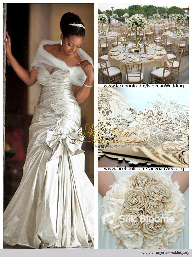 nigerian wedding champagne and cream wedding color scheme | Wedding ...