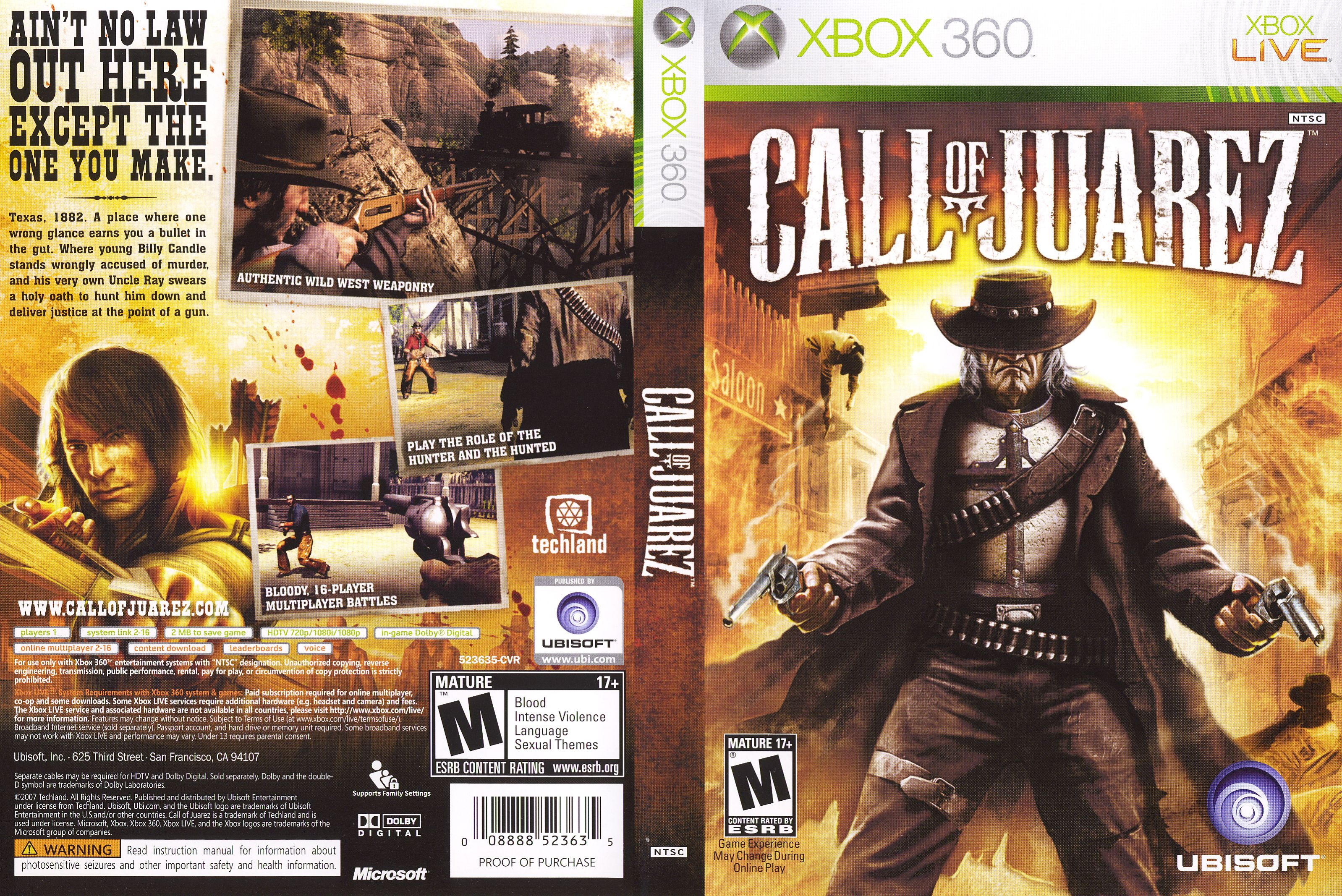 Call of Juarez Juarez, Xbox live, Comic book cover