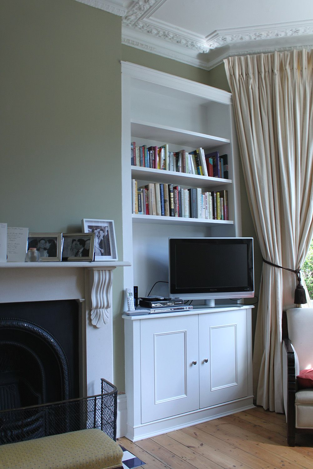 Fitted Alcove Bookcase In Clapham
