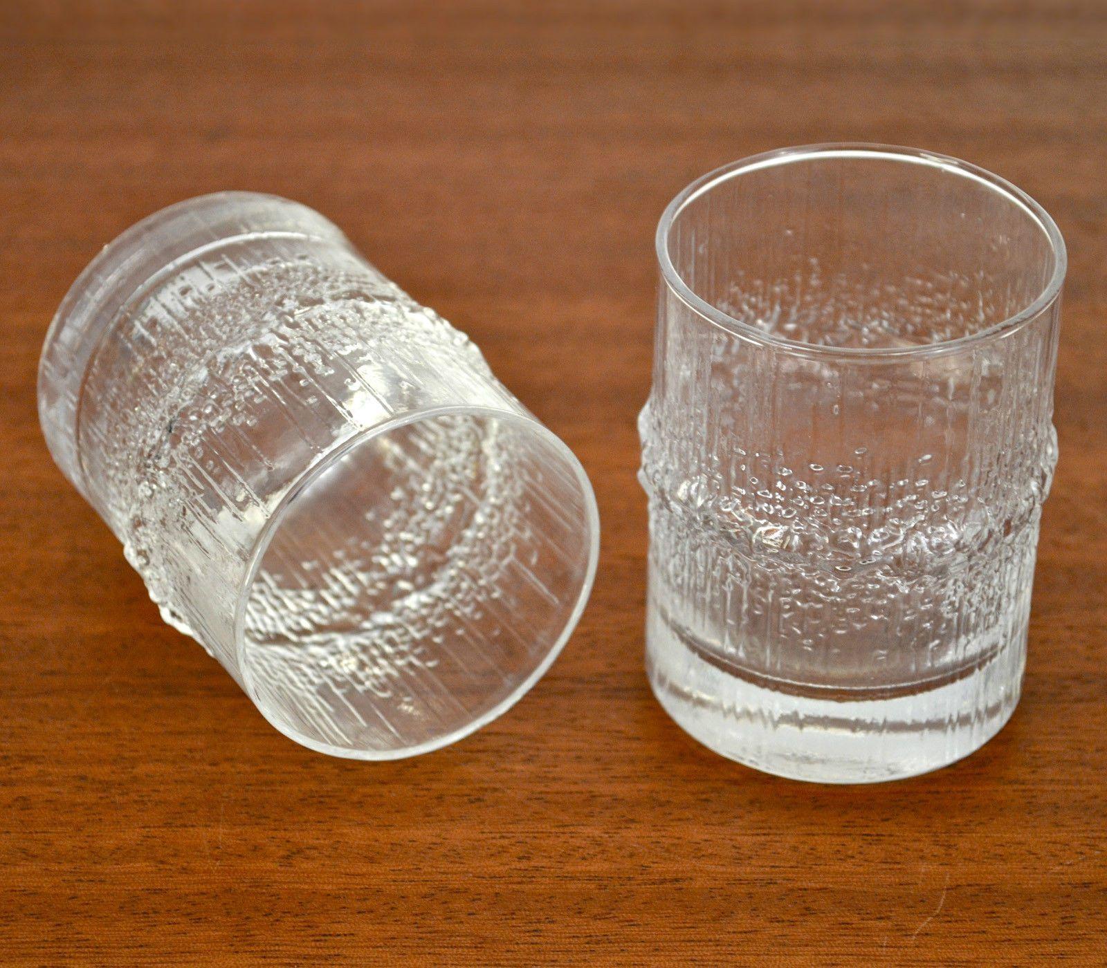 Tapio Wirkkala Vintage Niva 3 5 Oz Tumblers Glasses Iittala Finland Ebay Vintage Niva