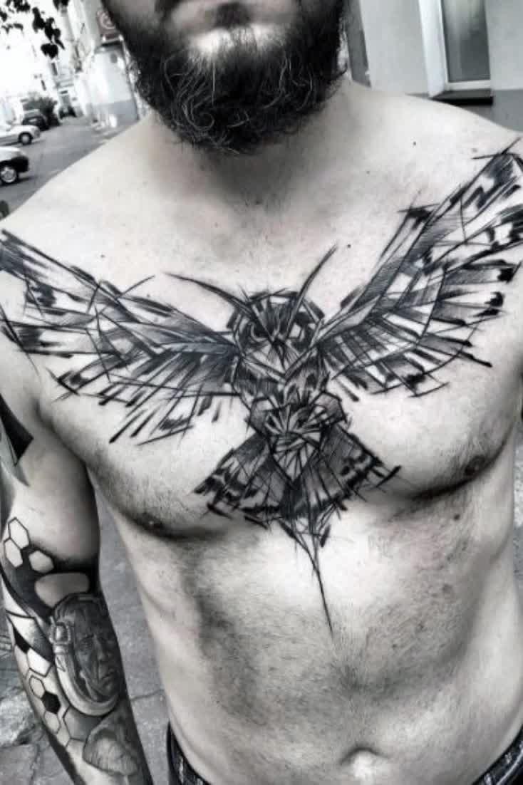 Top 39 Wing Chest Tattoo Ideas - [2021 Inspiration Guide]