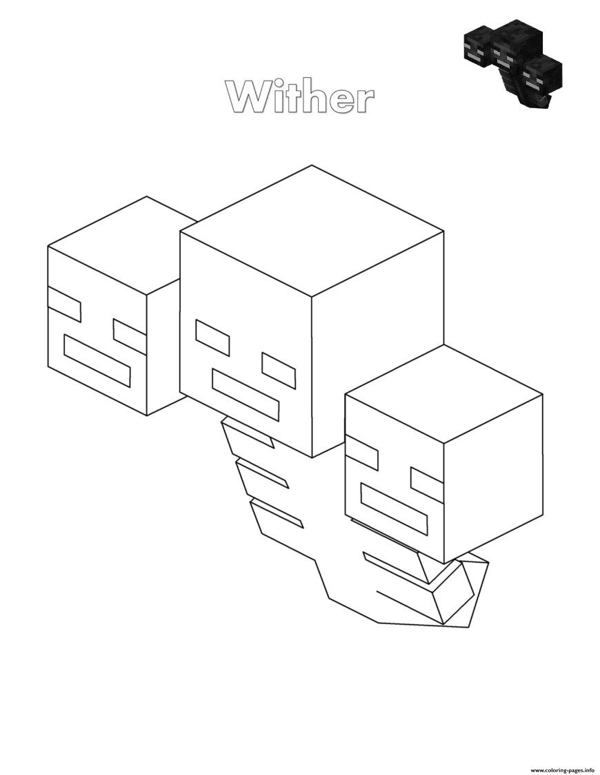Minecraft Coloring Pages Wither Minecraft Coloring Pages Printable Davemelillo Com In 2020 Minecraft Coloring Pages Lego Coloring Pages Coloring Pages