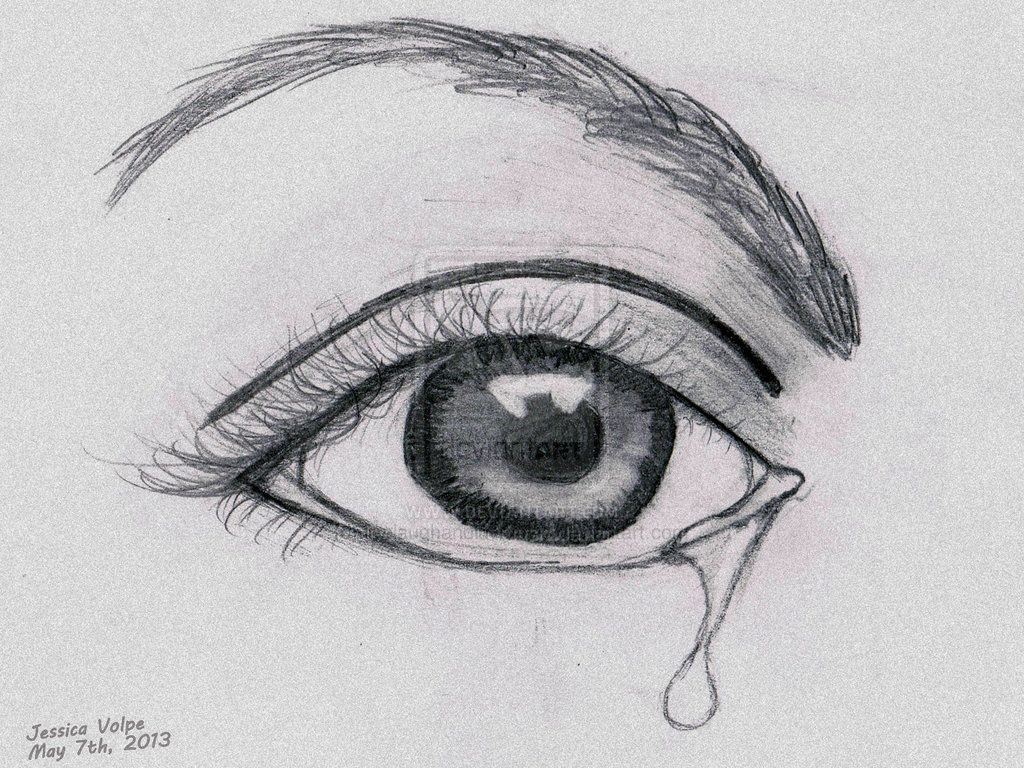Easy Eye Drawing Pencil Art Drawing Drawings In 2019 Crying