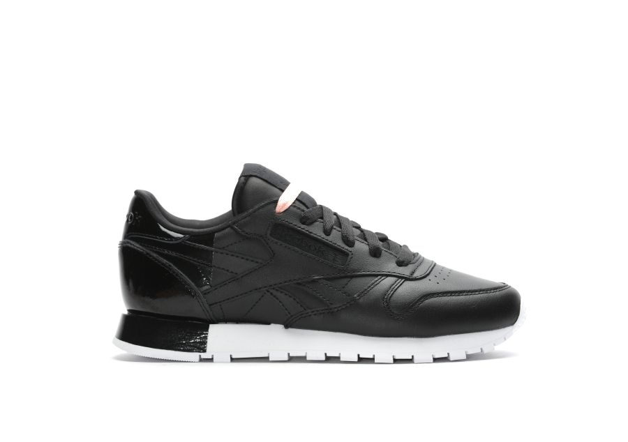 Sneakers femme - Reebok Classic Leather Matte Shine pack black