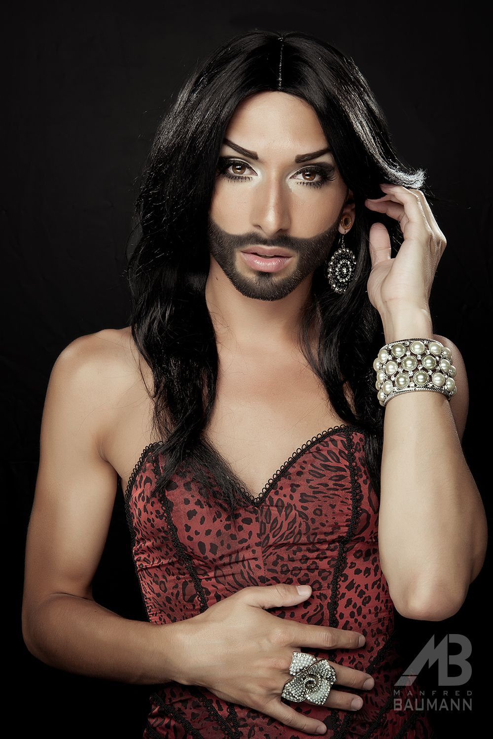 Conchita wurst and dana international in eurovision first star - Conchita Wurst Austrian Singer Drag Personality Eurovision Song Contest Winner 2014 Photographed At