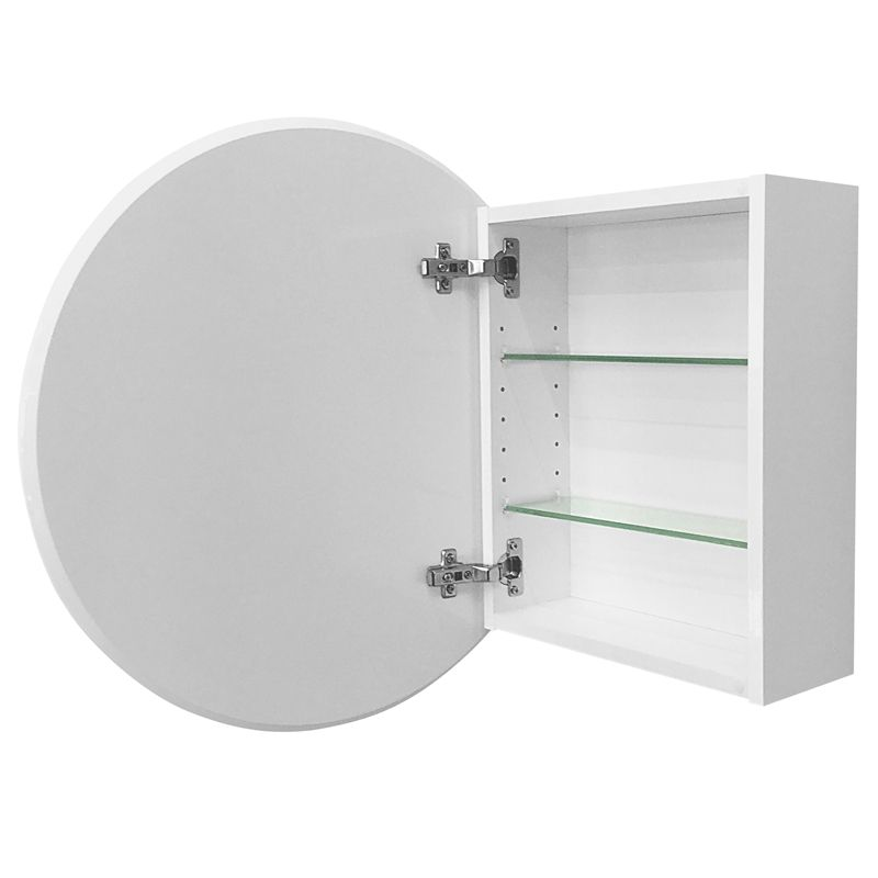 bunnings bathroom cabinets cibo design 600mm white circle mirror cabinet my small 12206 | 813b0761a74e6128f44fe47199650ffb