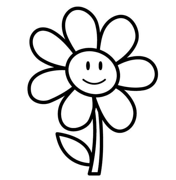 Easy Printable Flower Coloring