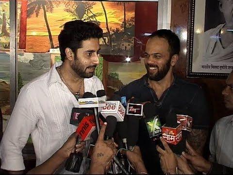 Abhishek Bachchan and Rohit Shetty joke about BOL BACHCHAN sequel.