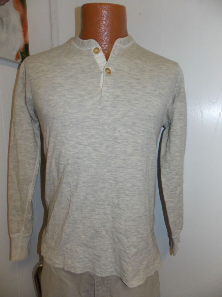 d5927ed2 Vintage DUOFOLD Thermal Henley Mens Shirt Size Medium MADE IN USA #Duofold # Henley