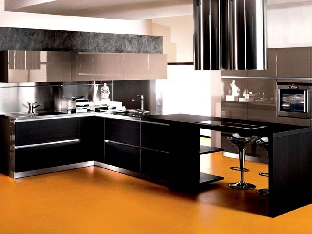 Innovative modern kitchen color combinations modern for Contemporary kitchen cabinet colors