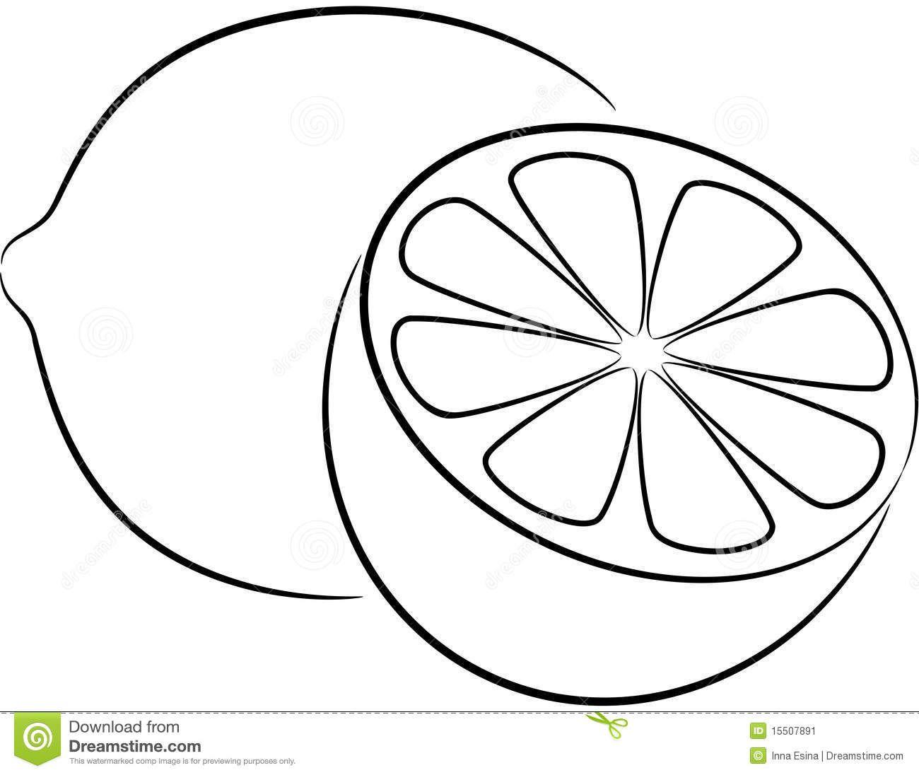 Lemon Clipart Black And White