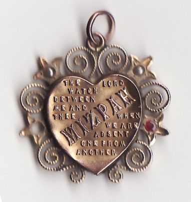 Victorian mizpah pendant god is in the detail vintage victorian mizpah pendant aloadofball Choice Image